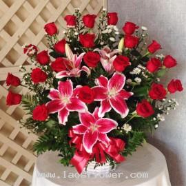 Red Flower Basket