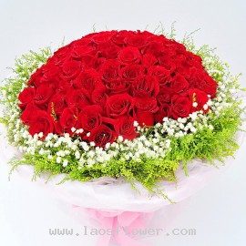 108 Red Roses Bouquet