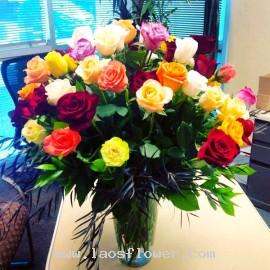 42 Mixed Roses