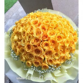 99 Yellow Roses Bouquet