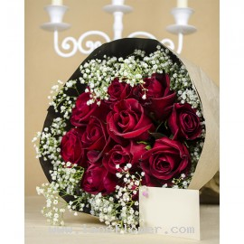 A Bouquet of 11 Red Roses